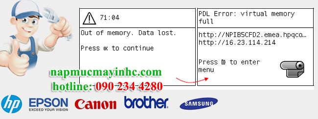 cách xóa bộ nhớ máy in